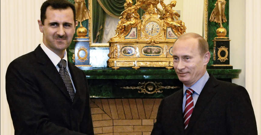 assad putin guerra in siria